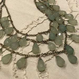 Jewelry - Beautiful jade stone 3 tiered statement necklace
